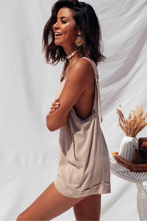 CALI PLAYSUIT - BEIGE