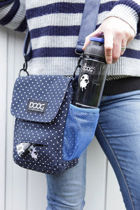 Walkie Bag - Polka Dot Blue & White