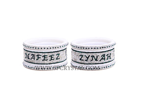 Green Personalized Bangles Set
