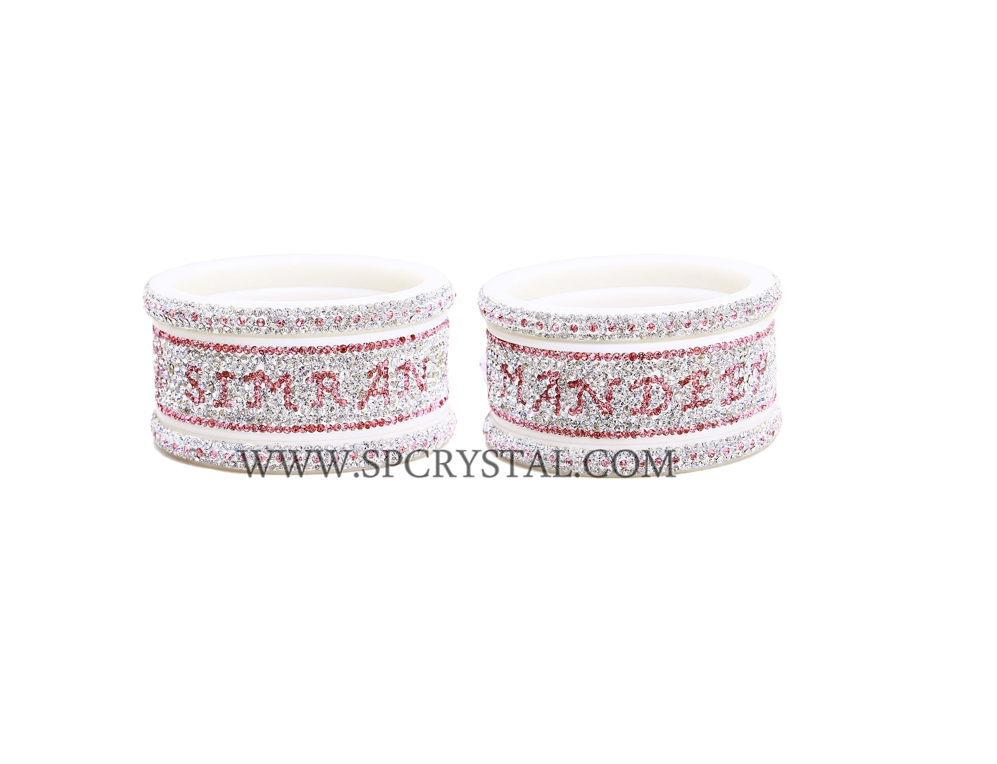 Pink Personalized Bangles Set
