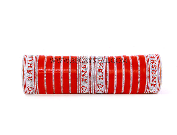 Deuce Personalized Red Bridal Wedding Chura