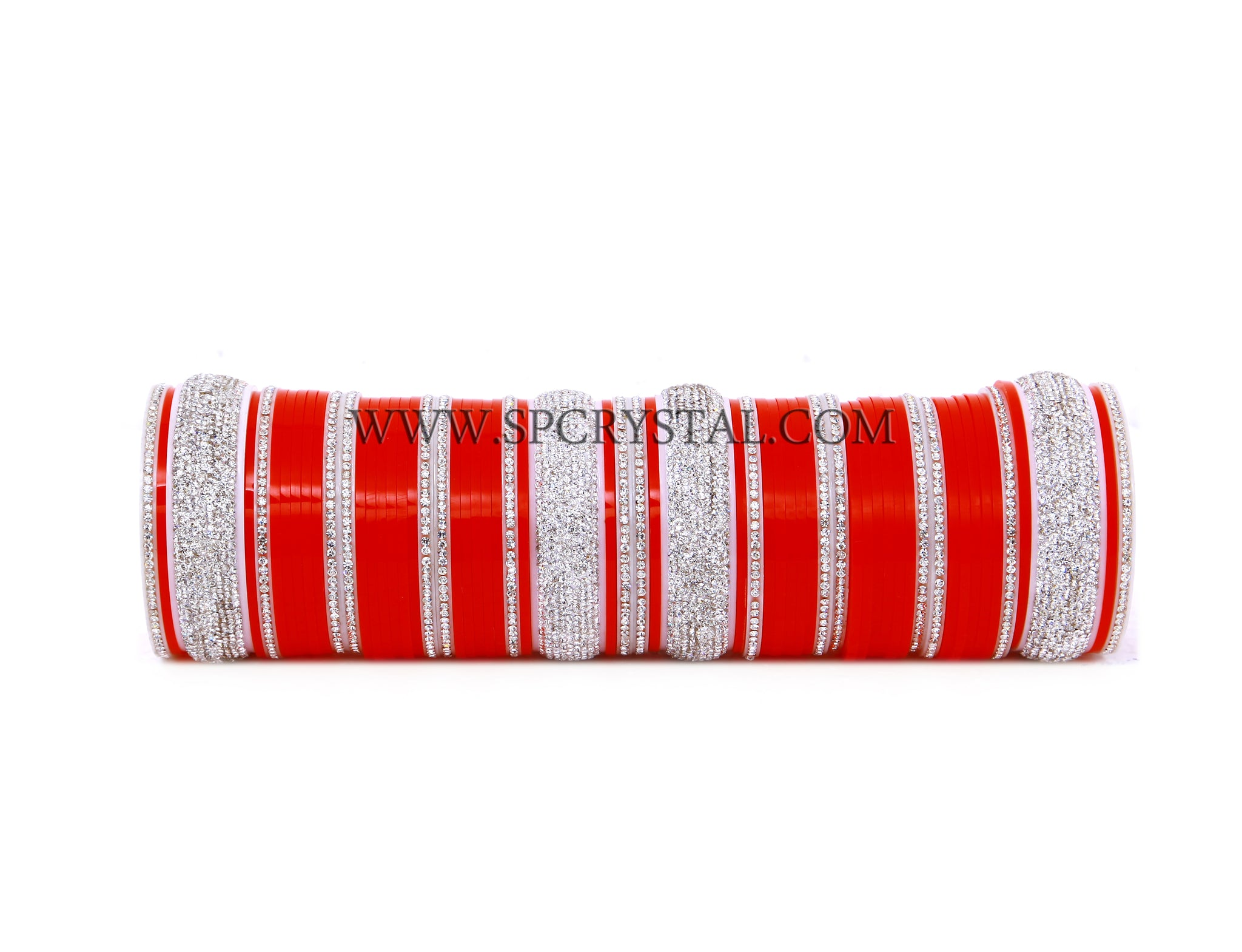 Crystal Red Opaque Bridal Wedding Chura