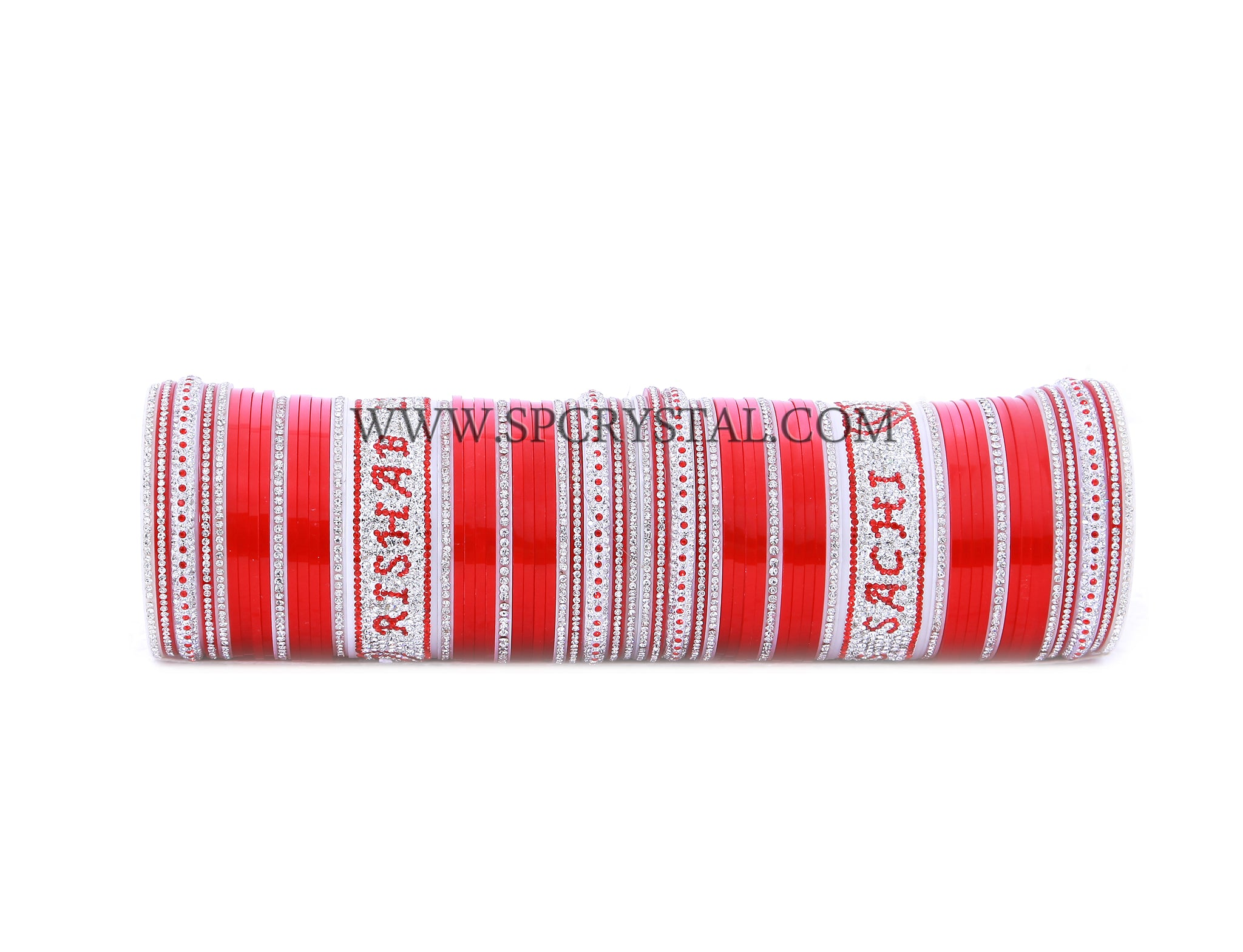 Personalized Red Bridal Wedding Chura