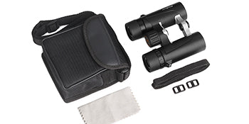 8x25 binocular package with case and neckstrap included
