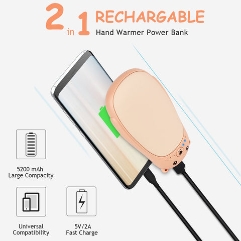 Hand Warmer And Power Bank 2  In 1