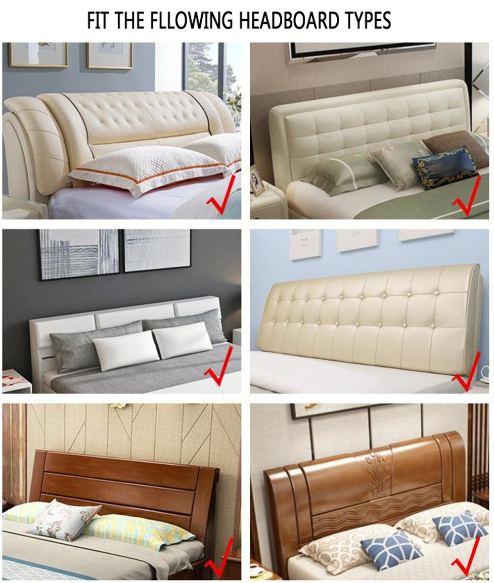 Bed Headboard Slipcover Protector Stretch Dustproof Cover for Bedroom Decor