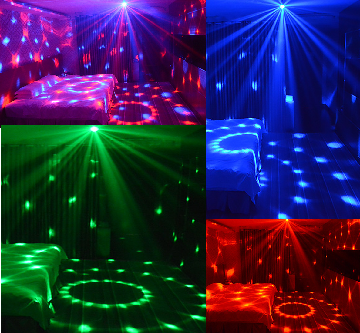 Sound Activated Party Lights with Remote Control Disco Ball Light