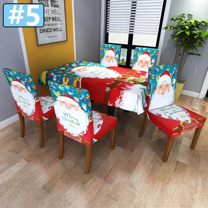 Christmas CHAIR COVER Super Fit Stretch Removable Washable Chair Cover Protector Slipcover