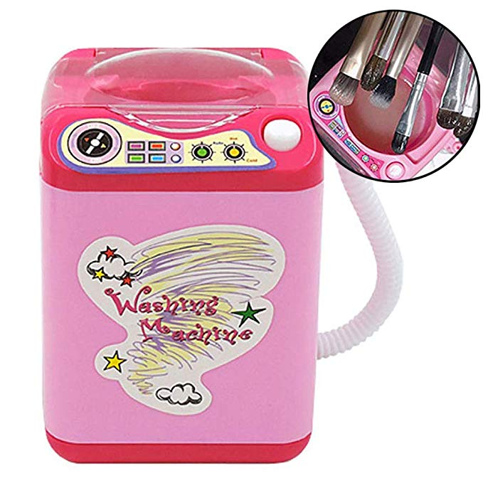 Automatic Mini Makeup Brush Cleaner Device, Washing Machine Simulation Mini Toy for Cosmetic