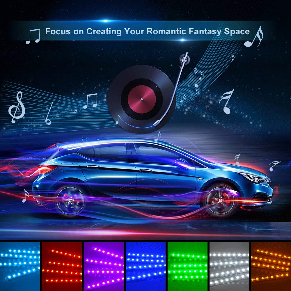 App Controller Car Interior Lights With Sound Active