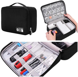 Electronic Organizer Travel Universal Cable Organizer Electronics Accessories Cases for Cable, Charger, Phone, USB, SD Card