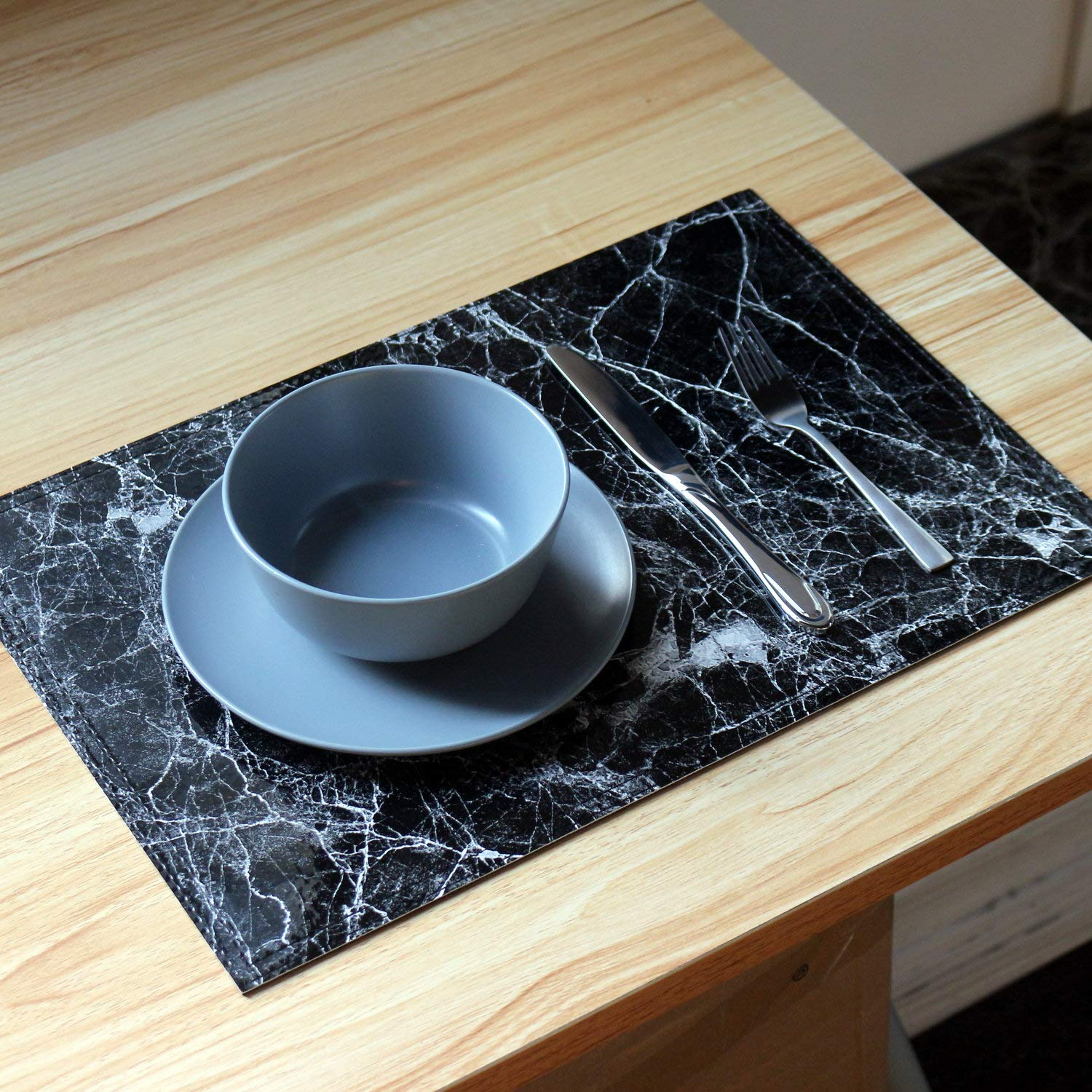 Placemats Marble Leather Table Mats