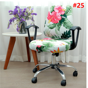 Computer Office Chair Cover - Protective & Stretchable Universal Chair Covers Stretch Rotating Chair Slipcover