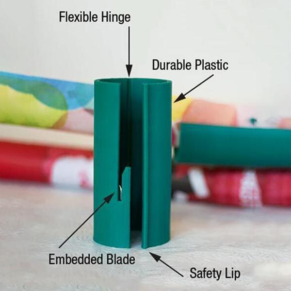 Sliding Wrapping Paper Cutter Makes Cuts In Seconds