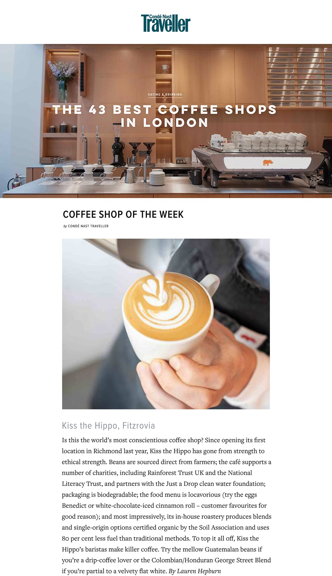 COFFEE SHOP OF THE WEEK
