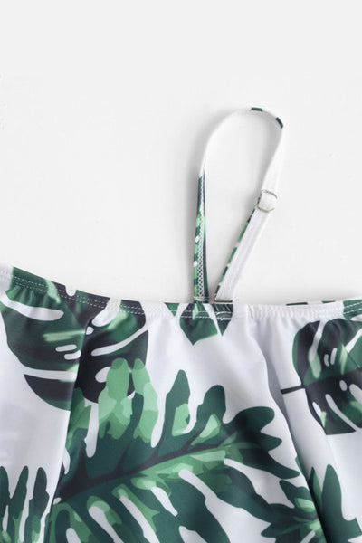 Frigirl Flounce Printed One-piece Swimwear