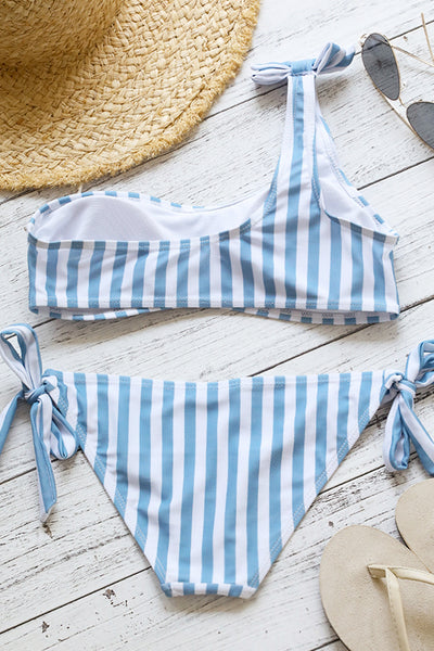 Frigirl Shoulder Knot Design Will Ship Bikini Set