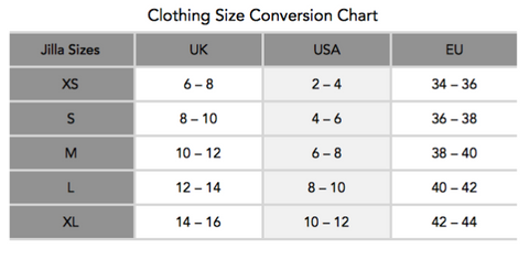 Garmendo-sustainable-sportswear-jilla-active-size-chart