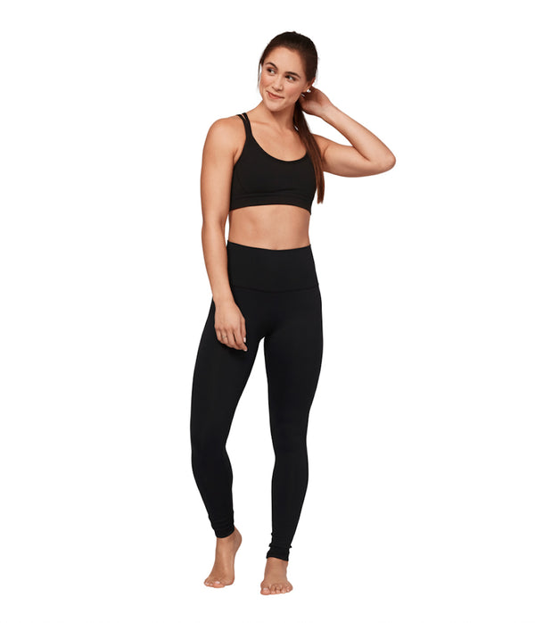 Sustainable sportswear - ethical activewear - Manduka - Essential High Waist Black Leggings - Garmendo