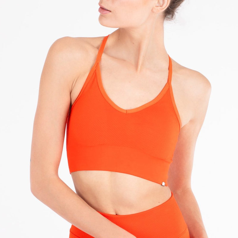 Sustainable sportswear - ethical activewear - Vyayama -  strata cupro crop top - Garmendo