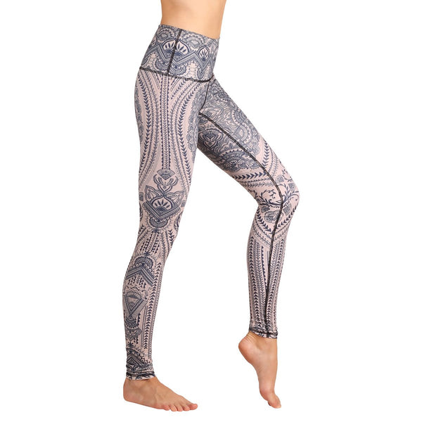 Sustainable sportswear - ethical activewear - Yoga Democracy Henna My Heart Leggings - Garmendo
