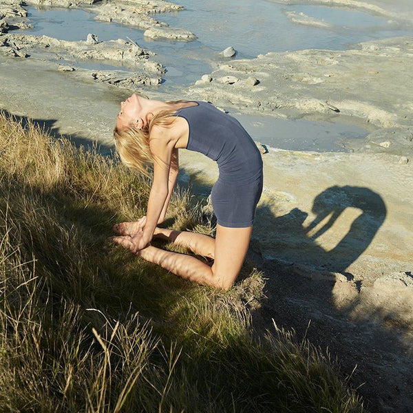 sustainable sportswear - ethical activewear - vyayama - strata cupro seamless racer tank - Top - Garmendo