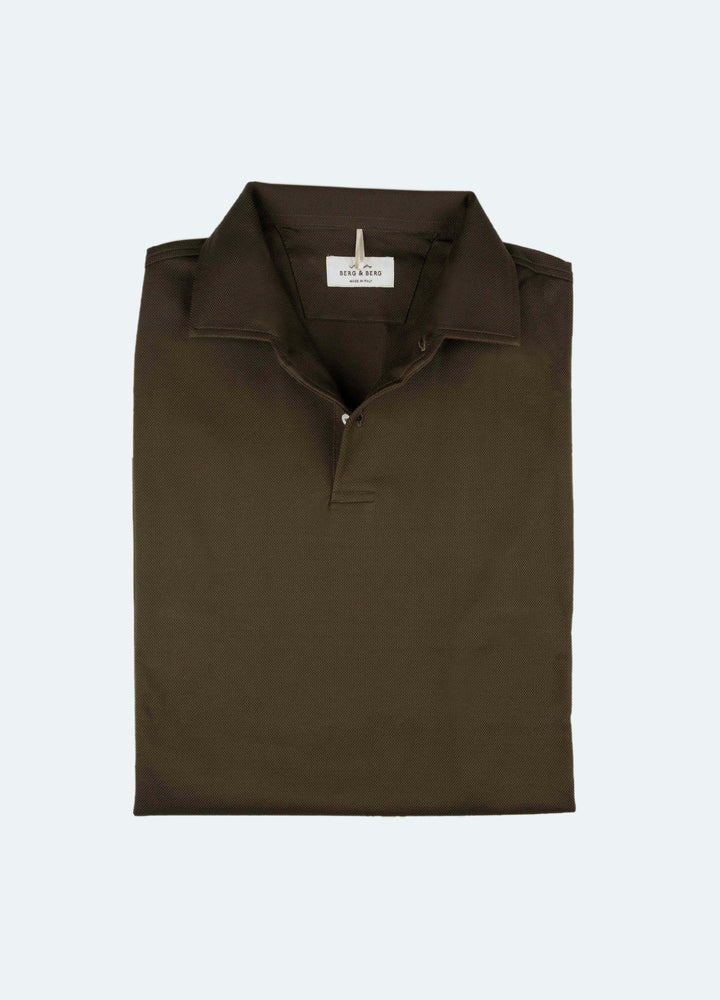 Claes One Piece Collar Long Sleeve Polo - Olive Berg&Berg
