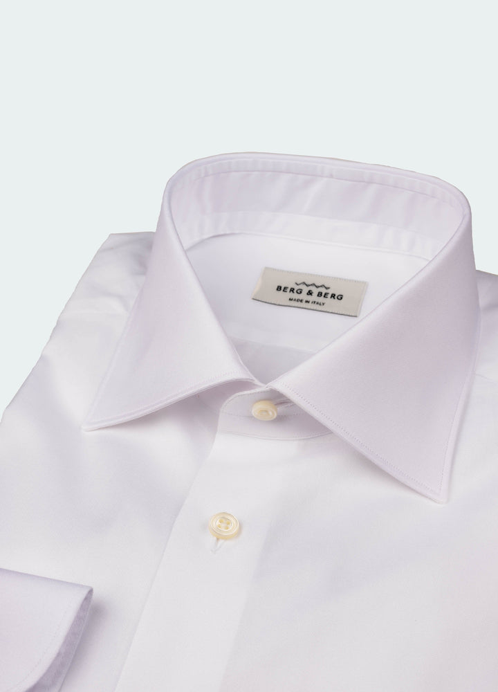 Frank II Pin Point Spread Collar Shirt - White Berg&Berg