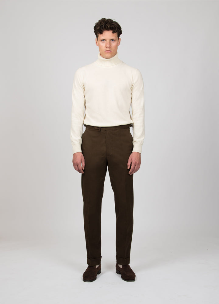 Alfons Cotton Trousers - Brown bergbergstore