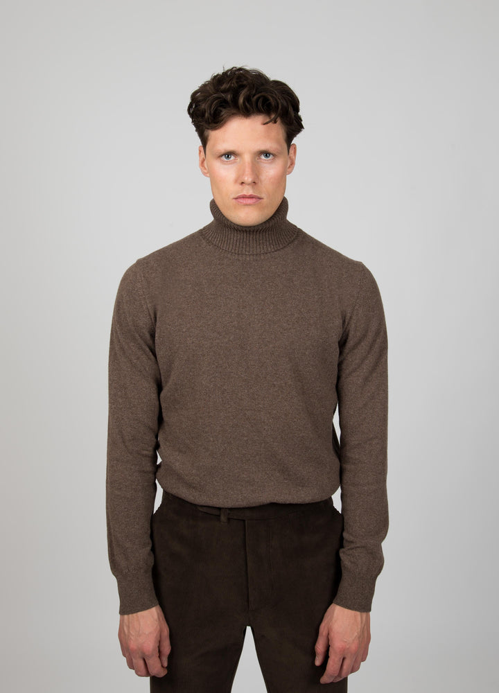 Bengt Merino Cashmere Turtleneck - Cold Brown Berg&Berg