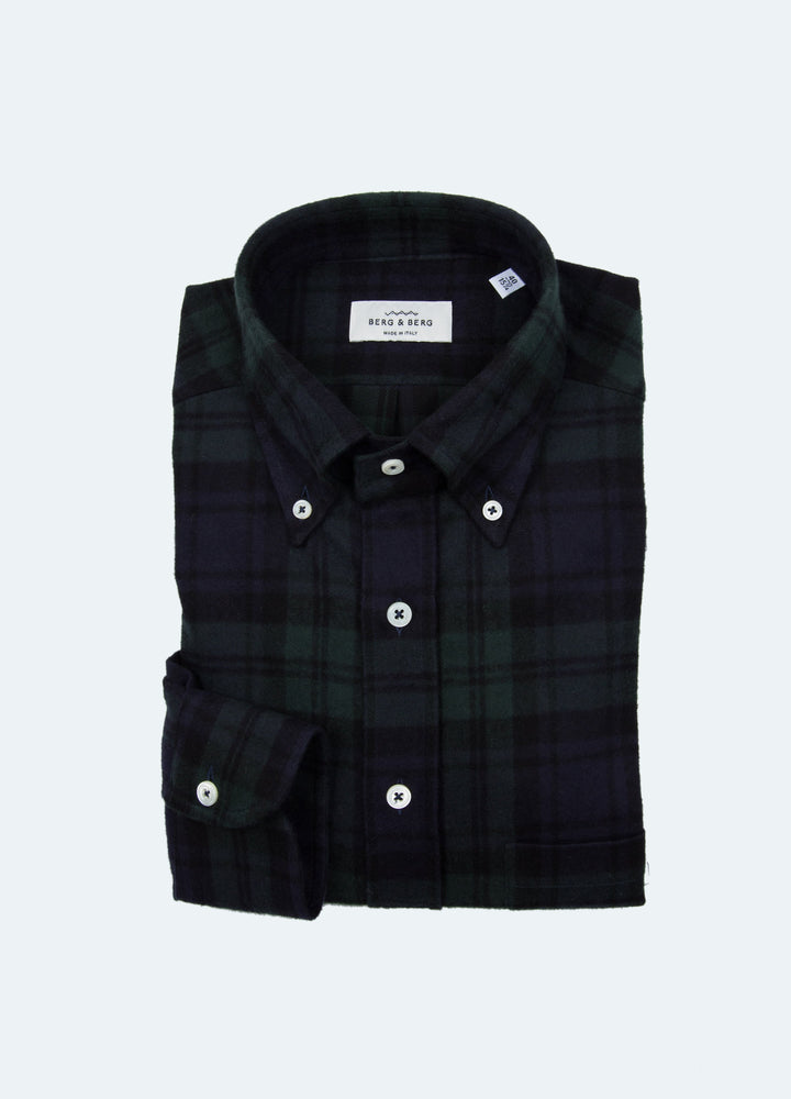 Ferdinand Flannel Button Down Shirt - Blackwatch Berg&Berg