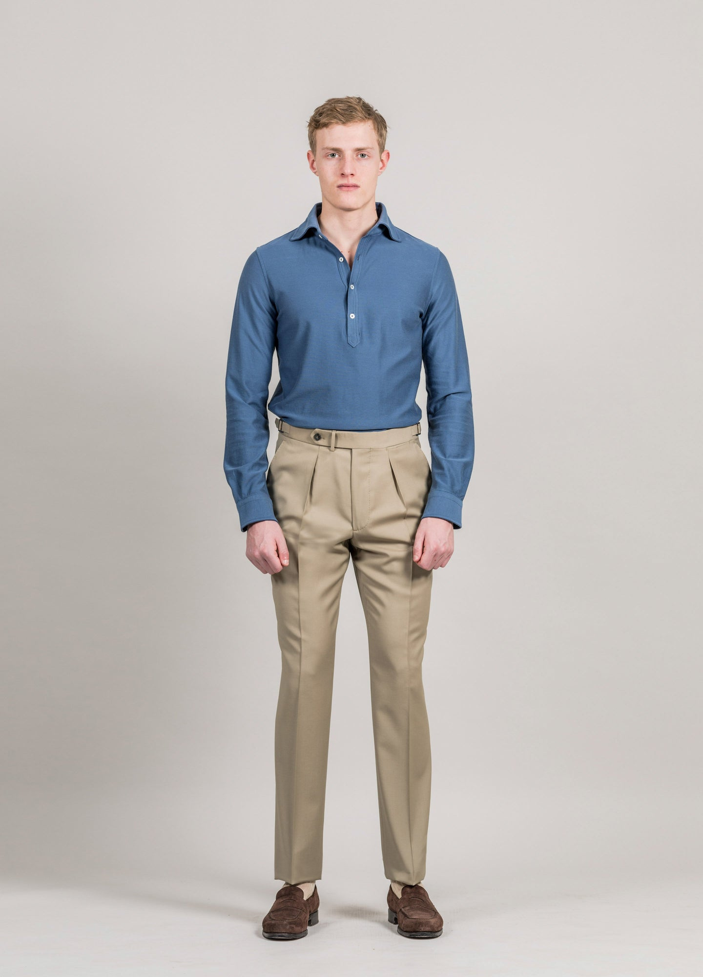 High Twist Wool Trousers