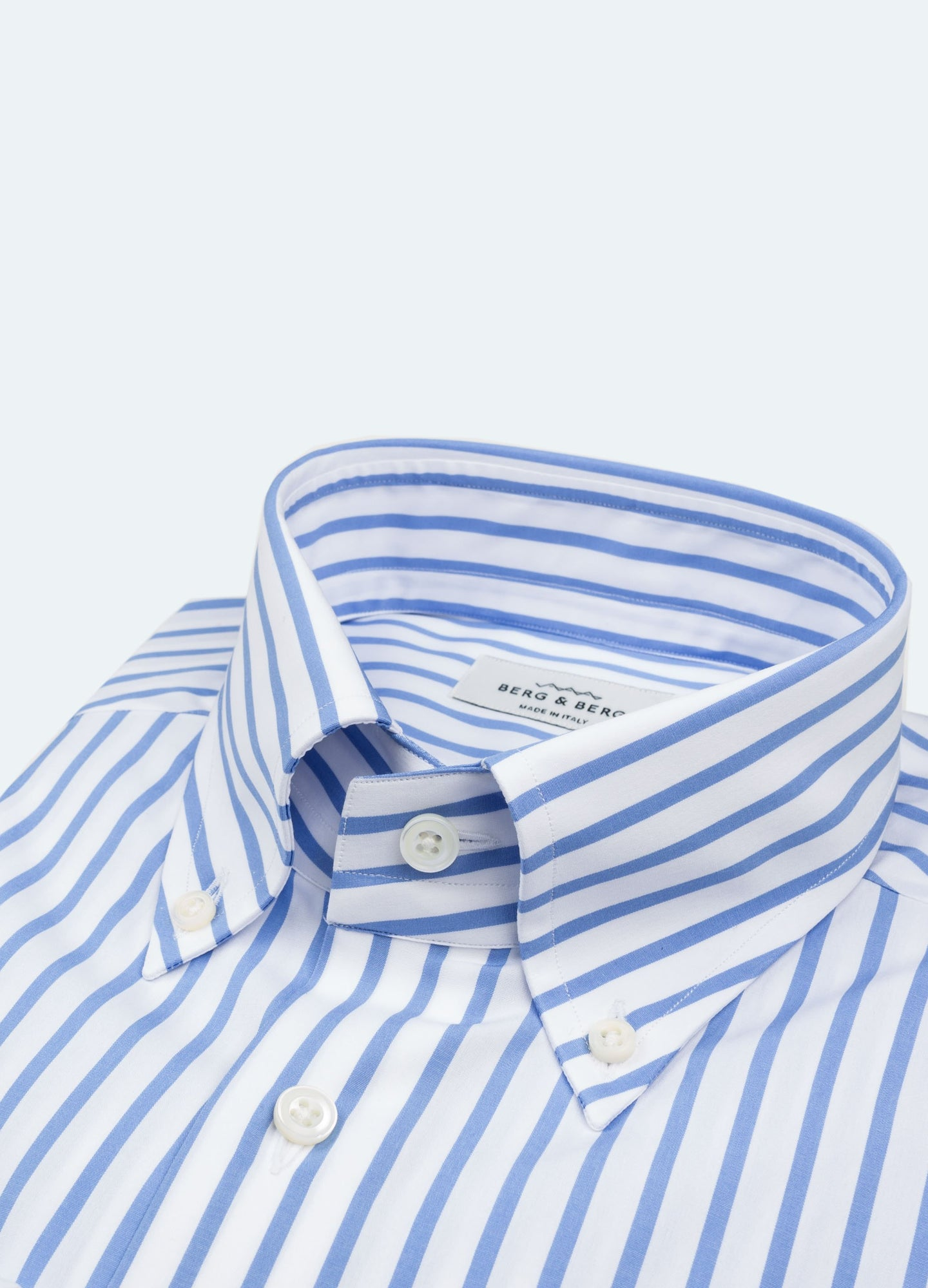 77107121 Filip II Striped Button Down Shirt - Blue/White – Berg&Berg