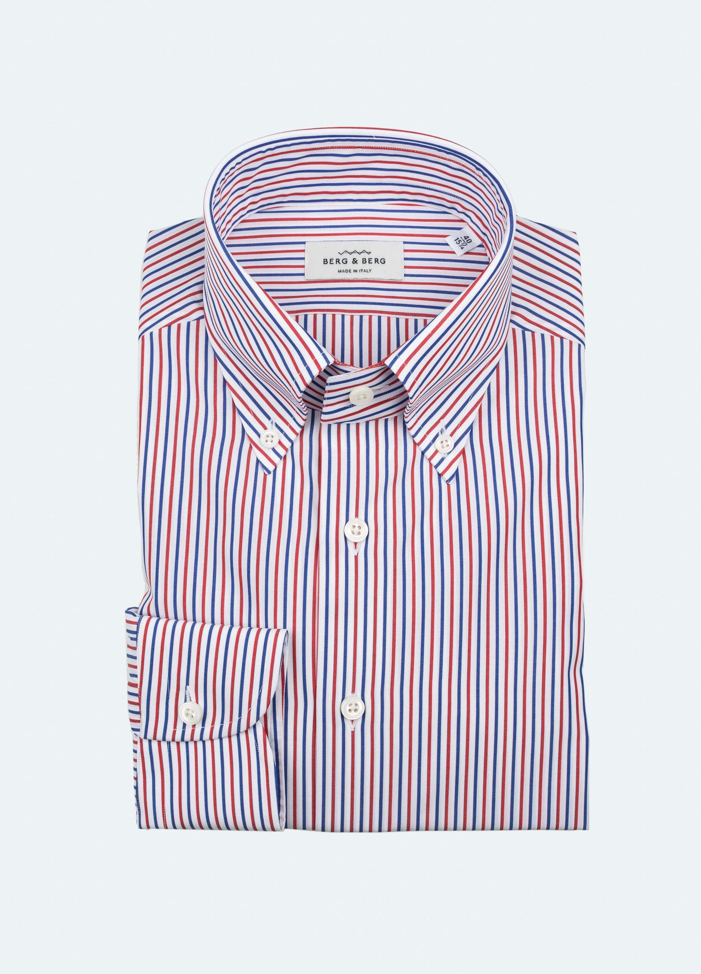 926df956 Filip II Striped Button Down Shirt - White/Blue/Red – Berg&Berg