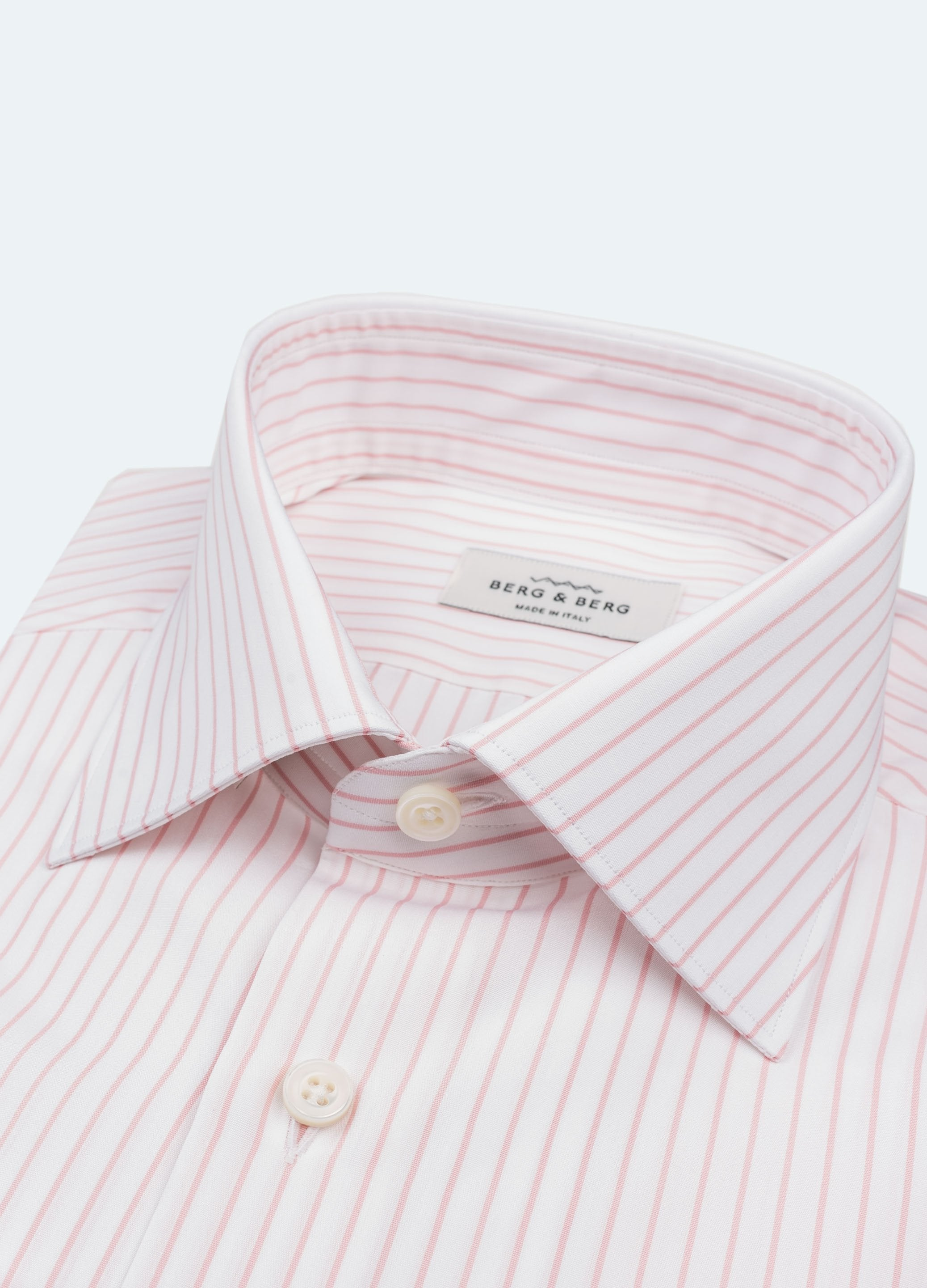Striped Spread Collar Shirt