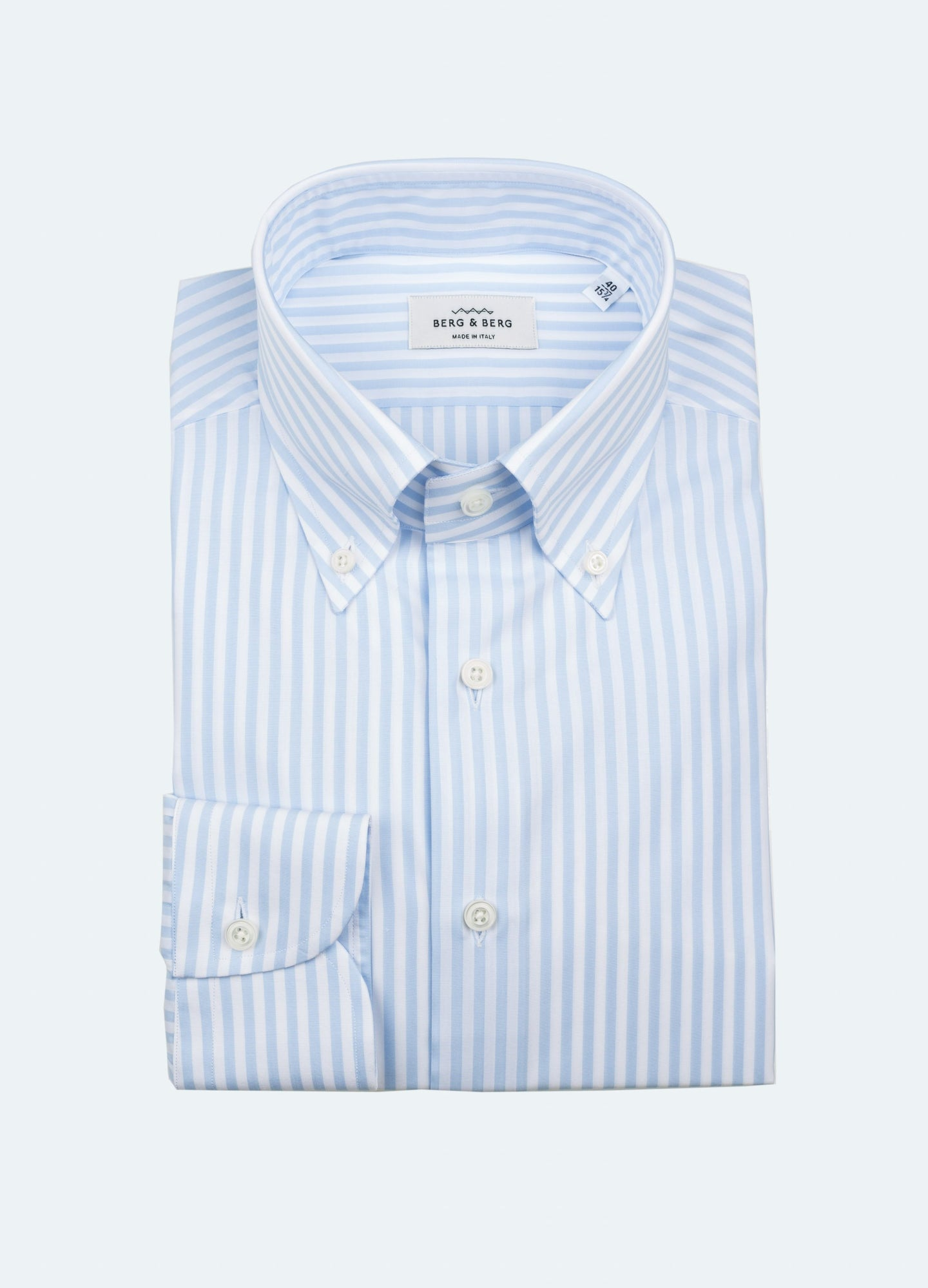 831b766f Filip II Striped Button Down Shirt - White/Blue | Berg&Berg