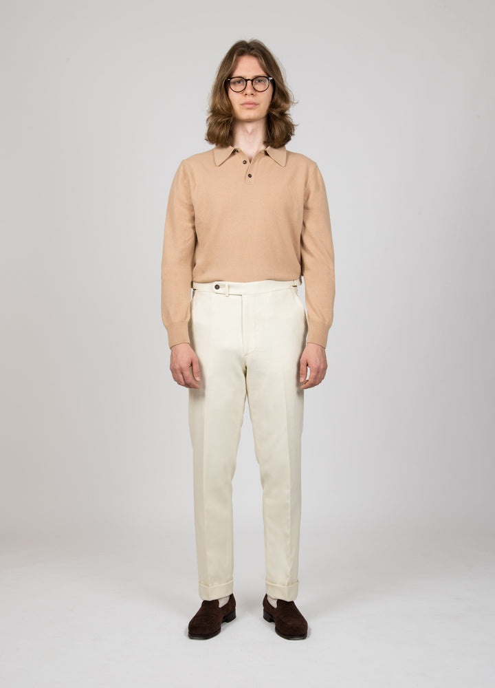 Alfons Flannel Trousers - White bergbergstore