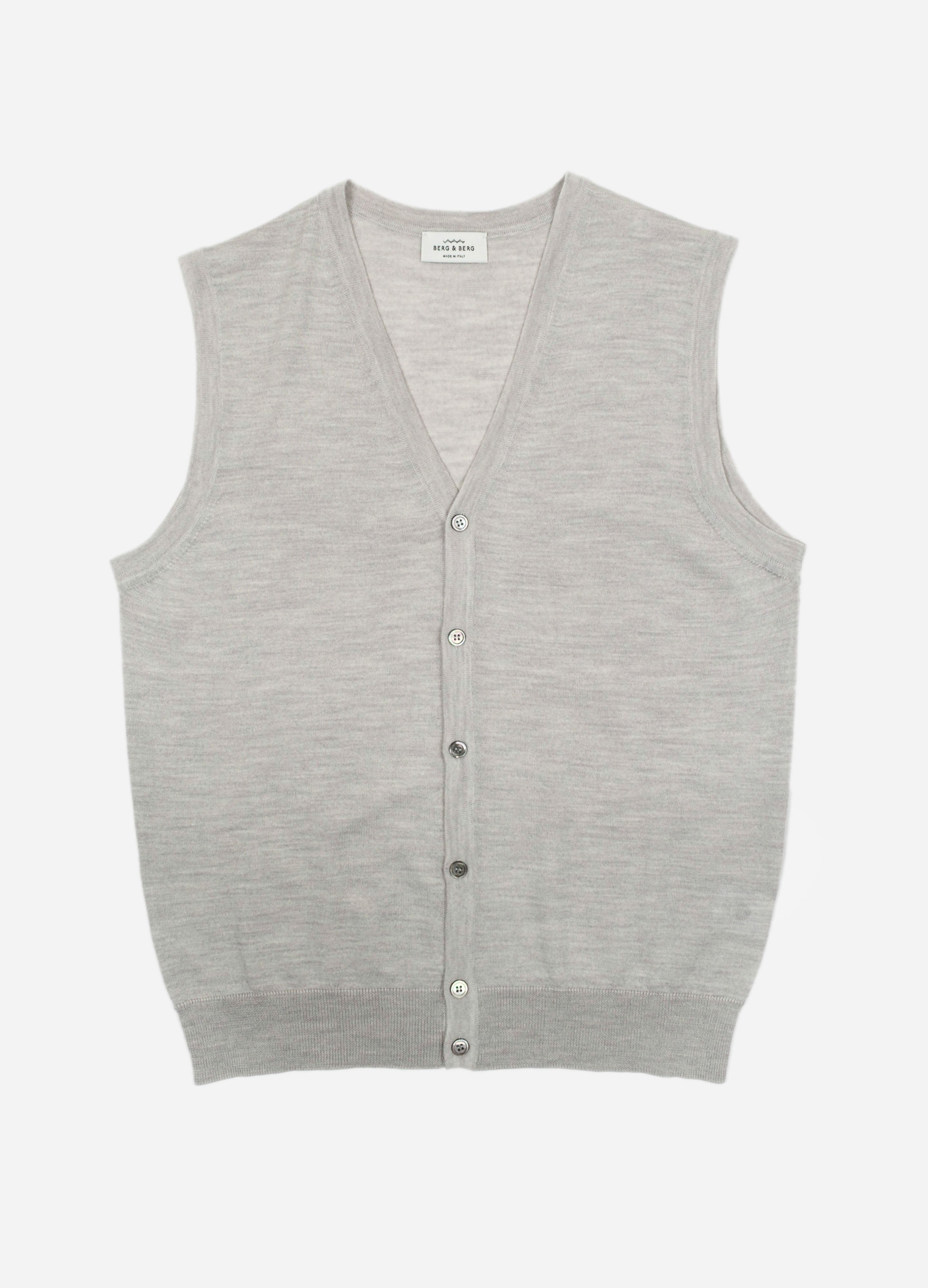 Fine Gauge Merino Sleeveless Cardigan