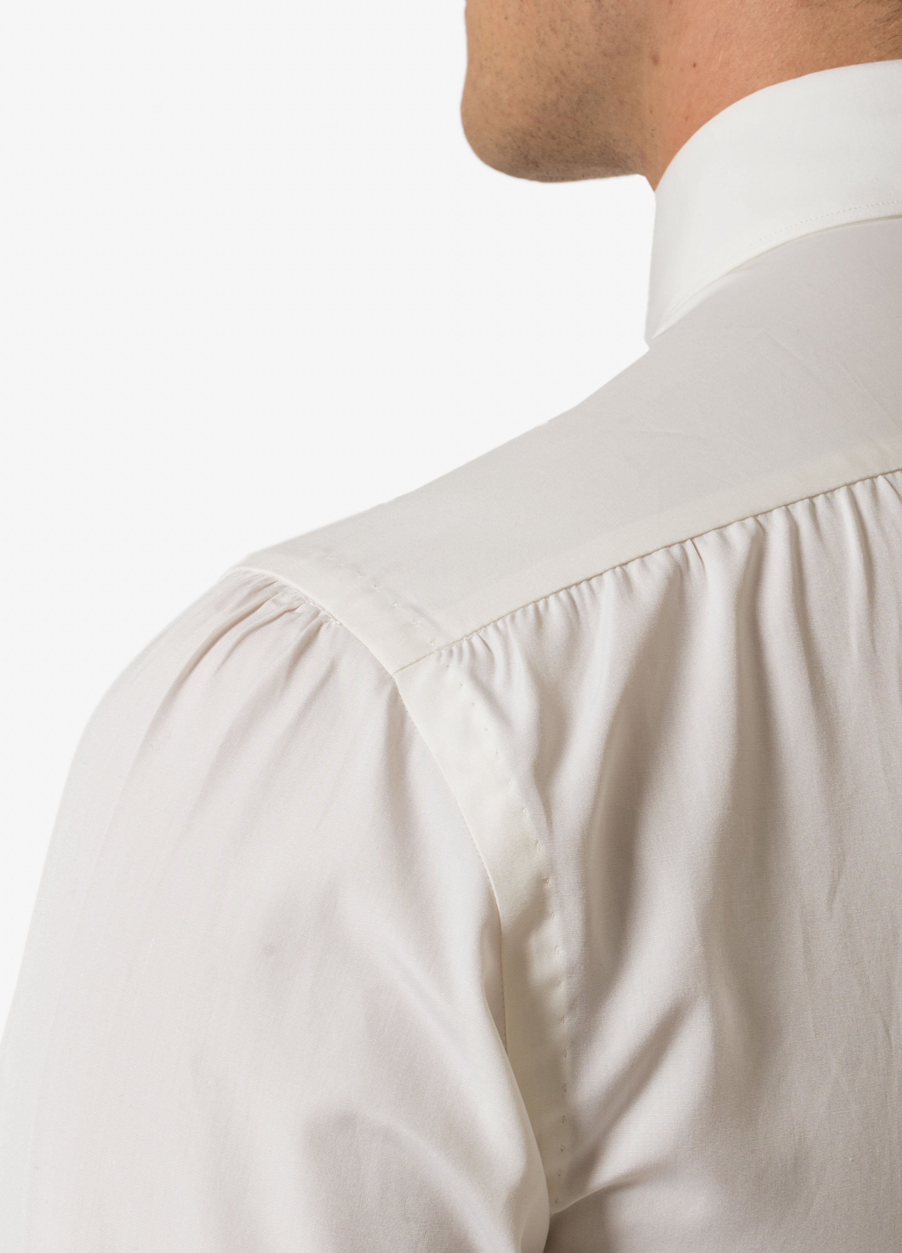 Handmade Pin Point Spread Collar Shirt