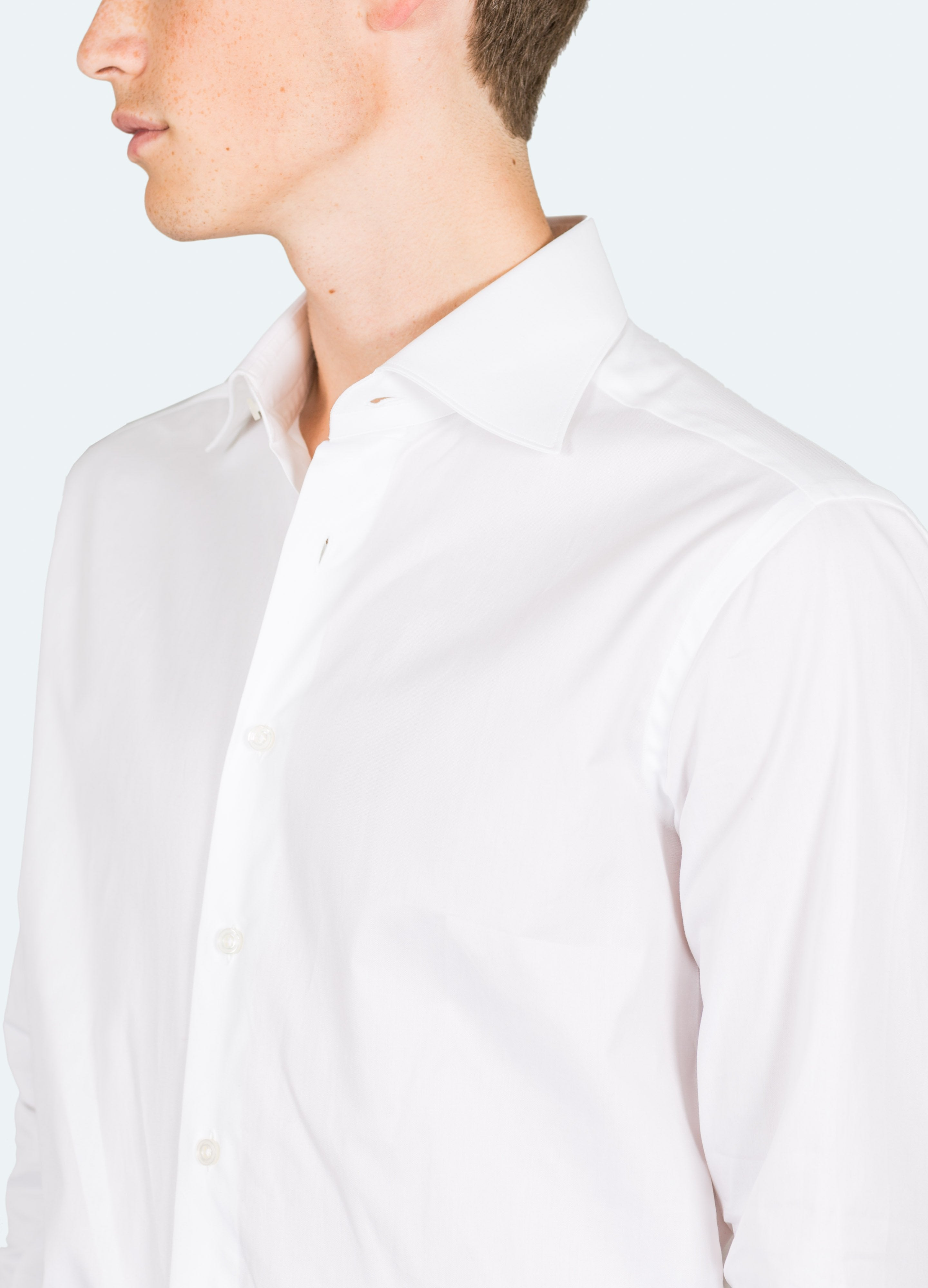 Pin Point Spread Collar Shirt