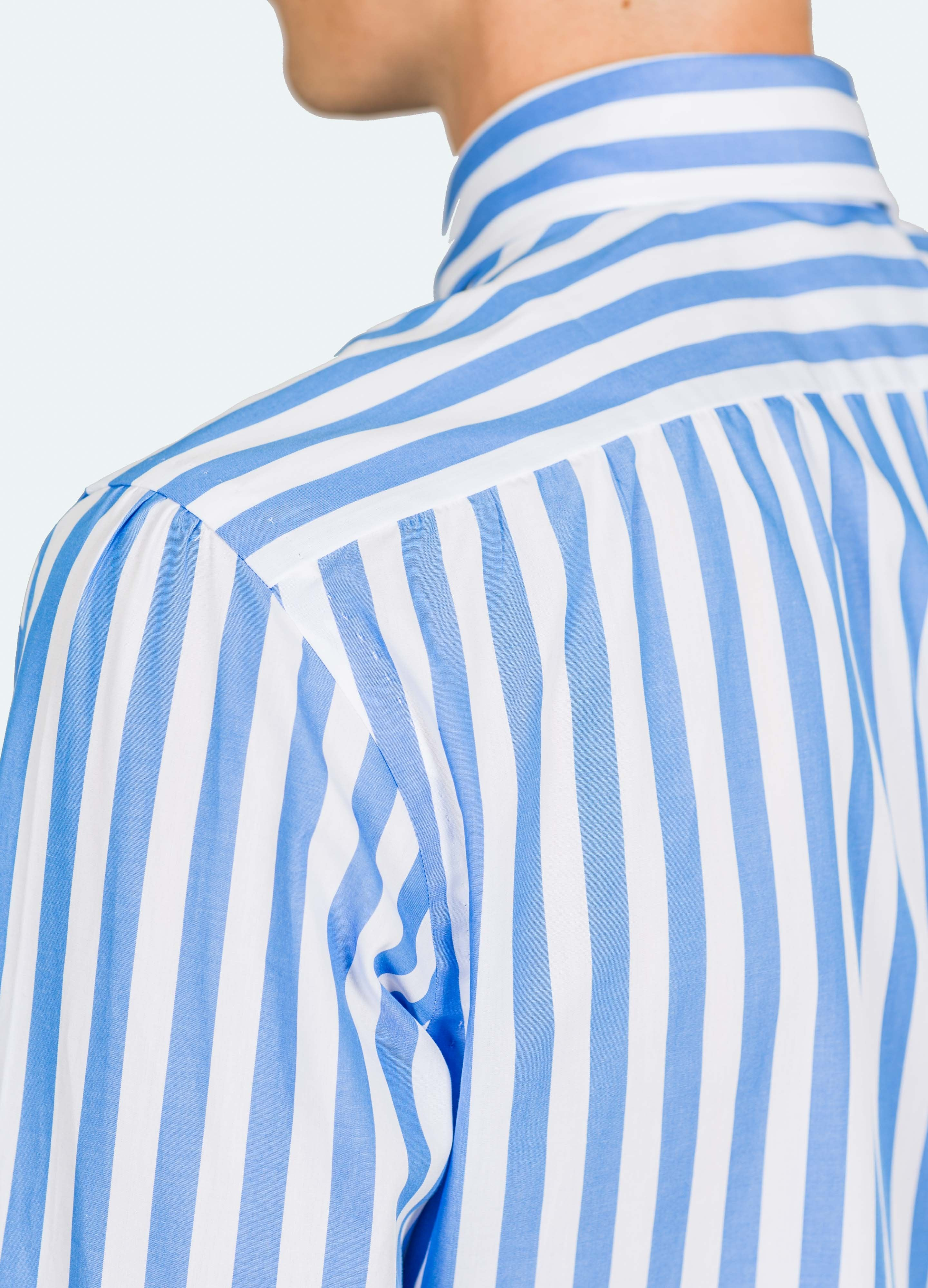 Handmade Butcher Stripe Button Down Shirt