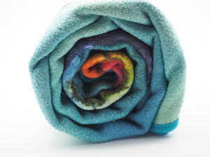 Rainbow turtle towel