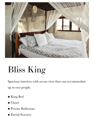 Bliss King Partial sea view (Shared two person)