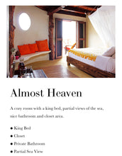 Almost Heaven semi ocean view king (Shared two person)