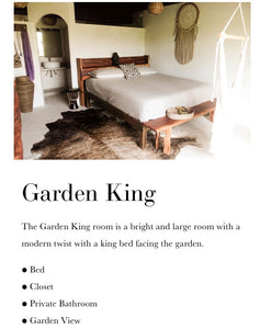 Garden Plus king (private) one king bed with a beautiful garden view