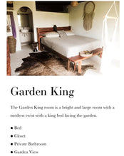 Garden Plus king (shared) one king bed with a beautiful garden view