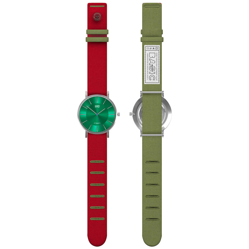 Strawberry & Money Green