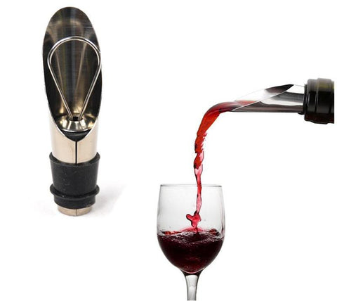 2 In 1 Wine Stopper Pouring Tool Stainless Steel