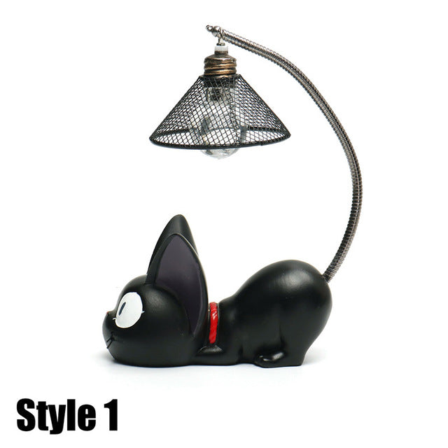CUTE BLACK CAT NIGHT LIGHT LAMP