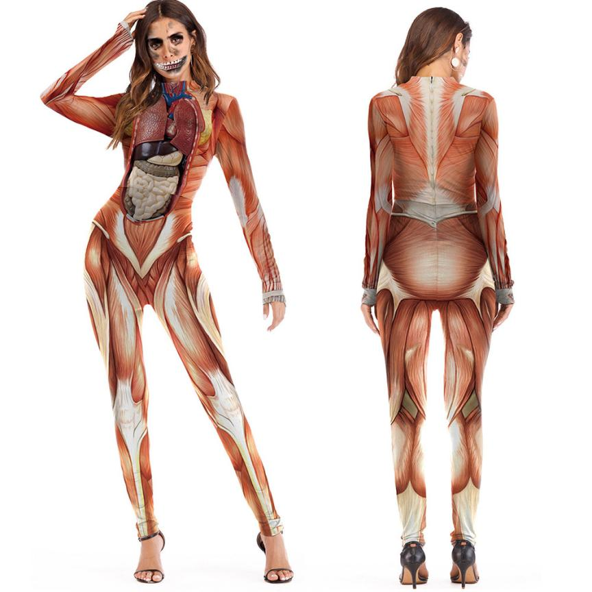 HALLOWEEN 3D PRINT SCARY JUMPSUIT
